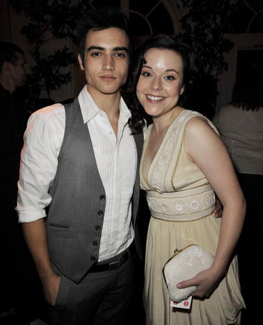 Marco James and Tina Majorino at the premiere of